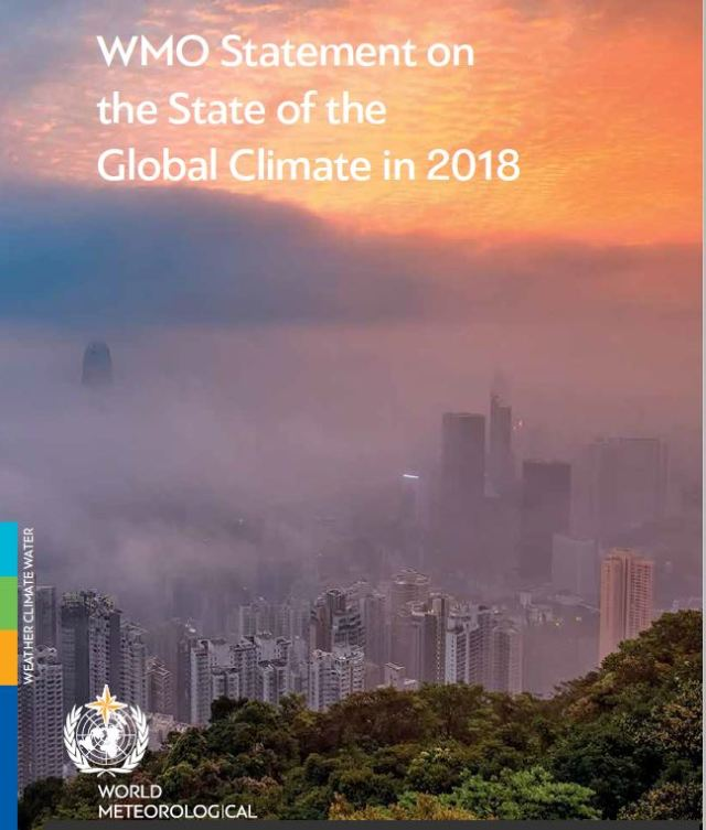 WMO climate report 2018 cover